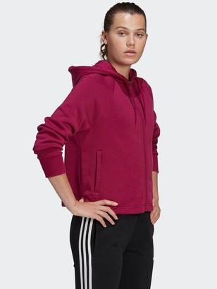 adidas Stacked Full Zip Hoodie - Berry