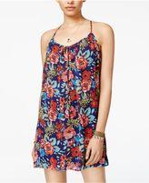 B. Darlin Juniors' Floral-Print Shift Dress