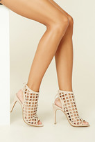 Forever 21 FOREVER 21+ Geo Cutout Stiletto Booties