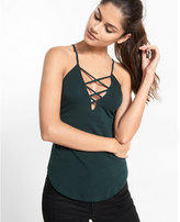 Express one eleven plunging strappy cami