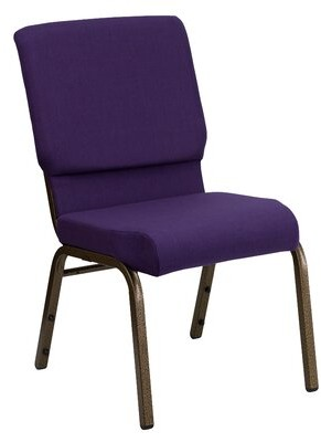 Ebern Designs MacArthur Guest Chair Finish: Gold Vein, Seat Color: Royal Purple