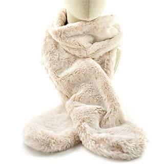 accsa Women Winter Soft Faux Fur Wrap Collar Shrug for Winter Coat Grey