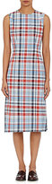 Thom Browne WOMEN'S MADRAS PLAID OXFORD-CLOTH SHEATH DRESS