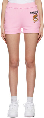 Moschino Pink Inside Out Teddy Bear Shorts