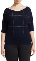 Artefice Knit Wool Short-Sleeve Sweater