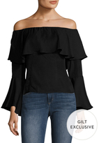 Lucca Couture Flared Sleeve Off The Shoulder Top