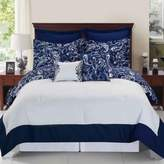 Bed Bath & Beyond Enzo Reversible 8-Piece King Comforter Set in Navy/White