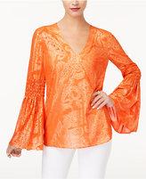 MICHAEL Michael Kors Samara Bell-Sleeve Top, a Macy's Exclusive
