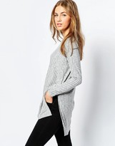 Asos Tunic With Side Split And Long Sleeve