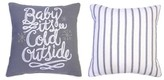 Threshold Baby It's Cold Square Decorative Pillow Gray