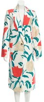 Thakoon 2015 Long Floral Print Coat