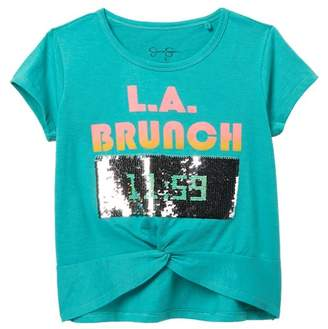 Jessica Simpson LA Brunch Reversible Sequin T-Shirt (Big Girls)