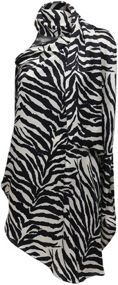 MM6 MAISON MARGIELA Asymmetric Zebra Print Satin Top