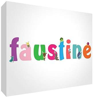 clear Little Helper Souvenir Decorative Polished Acrylic Diamond Style Colour Example with Girl's Name Faustine 14.8 x 21 x 2 cm Large