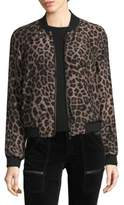 Joie Julita Printed Silk Bomber Jacket