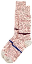 Paul Smith Contrast Stripe Marled Boot Socks