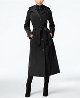 London Fog Hooded Layered Maxi Trench Coat