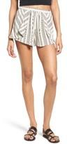 BP Women's Pleated Stripe Shorts