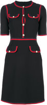 Gucci web detail dress - women - Silk/Wool - 40