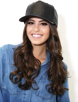 West Coast Wardrobe Mind Games Leather Baseball Cap In Black