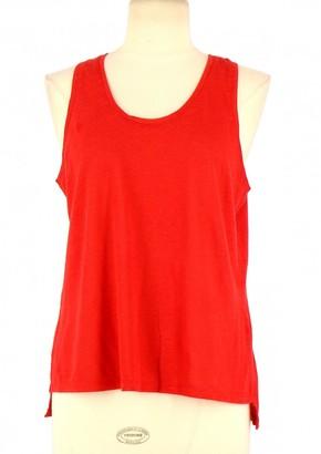 Claudie Pierlot Red Linen Top for Women