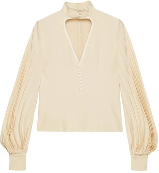 Gucci cut out detail blouse
