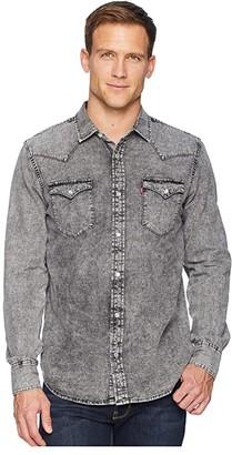 Levi's Standard Barstow Western Shirt (Hunk Grey/Light Grey) Men's Long Sleeve Button Up