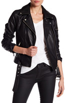 7 For All Mankind Leather Asymmetrical Moto Jacket