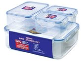 Lock & Lock 4 Piece Storage Container - Clear/Blue, Set of 4