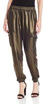 BCBGMAXAZRIA Women's Metallic Cargo Pant