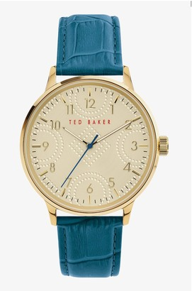 Ted Baker Men's Cosmop Leather Strap Watch, 42mm