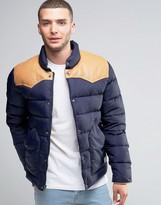 Penfield Pelam Down Quilted Jacket Leather Yoke