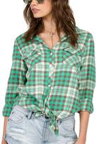 Volcom Sano Dayz Long Sleeve Plaid Flannel Shirt
