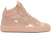 Giuseppe Zanotti Pink Patent London High-Top Sneakers