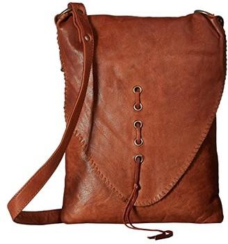 Scully Dakoda Flap Crossbody (Tan) Cross Body Handbags