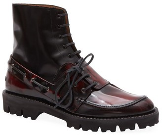 Maison Margiela Lace-Up Leather Boots