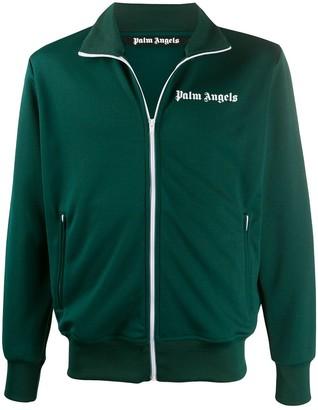 Palm Angels Sleeve-Stripe Zipped Track Jacket