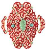 """Satellite Women's """"Stromboli"""" Gold Plated Brass Multicolour Large """"Gypset"""" Bracelet of 23cm"""