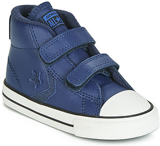 Converse STAR PLAYER 2V ASTEROID LEATHER HI girls's Shoes (High-top Trainers) in Blue