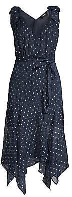 The Kooples Women's Sleeveless Polka Dot Midi Dress