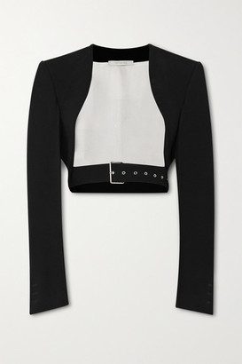 Peter Do Cropped Belted Cady Jacket - Black