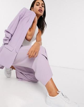 Stradivarius wide leg tailored pant in lilac