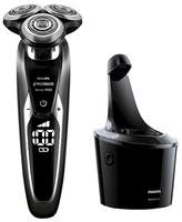 Philips Norelco Series 9700 wet & Dry Men's Rechargeable Electric Shaver with Cleaning Station - S9721/84