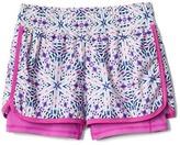 Gap GapFit kids kaleidoscope double-layer shorts