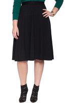ELOQUII Plus Size Stretch Ponte Circle Skirt