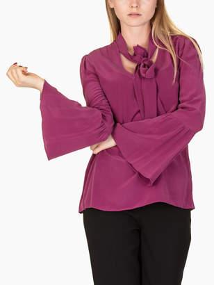Michael Kors Bell Sleeves Silk Blouse