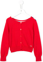 Junior Gaultier scoop neck cardigan - kids - Cotton/Spandex/Elastane/Viscose - 6 yrs