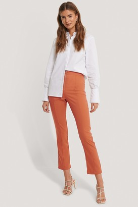 Gine Margrethe X NA-KD Back Slit Trousers