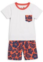 Trunks Toddler's & Little Boy's Tropical-Print Swim Set