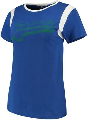 Retro Sport Unbranded Women's Junk Food Royal/White Seattle Seahawks T-Shirt
